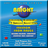 Bright Images Subliminal Freedom From Drugs cds, tapes and mp3 Audio Programs