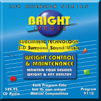 Bright Images Subliminal Audio Weight Loss & Maintenance Audio cd, tape and mp3 Programs