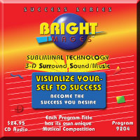 Bright Images Visualize Yourself To Success Subliminal Audio CD, mp3 and tape Programs