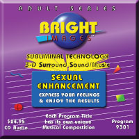 Bright Images Sexual Enhancement Subliminal tape, cd and mp3 audip programs