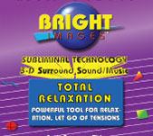 Bright Images Total Relaxation Subliminal Audio CD, tapes & mp3 Audio Programs