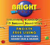 Bright Images Subliminal Anxiety Free Living CD, mp3 & tape Audio Programs