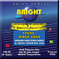 Bright Images Subliminal Study Made Easy Tape, CD & mp3 Audio Program