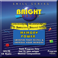 Bright Images Memory Power Subliminal Tape, CD's & mp3 Self Improvement Audio Programs