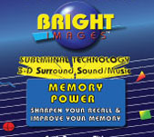 Bright Images Memory Power Subliminal Audio Tape, mp3's and CD's Self Improvement Programs