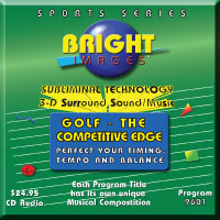 Bright Images Golf - The Competitive Edge Tpe, CD and mp3 Subliminal Audio Program